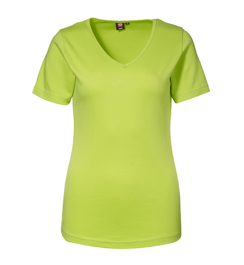 ID Dame Interlock T shirt V hals 0506 House of T shirts