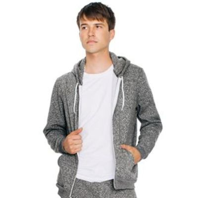 Salt and pepper zip hoodie  Thumbnail