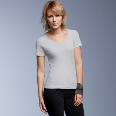 Ladies' Featherweight V-Neck Tee  Thumbnail