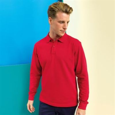 Asquith & Fox Men's classic fit long sleeved polo Thumbnail