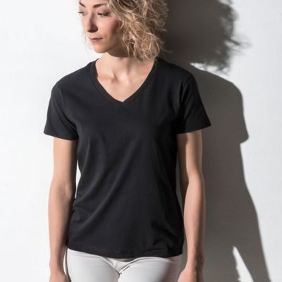 Nakedshirt Womens Fitted V Neck Tee Thumbnail