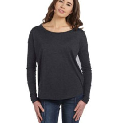 Ladies' Flowy Long-Sleeve T-Shirt with 2x1 Sleeves  Thumbnail